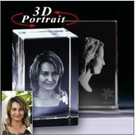 3D Glasfoto im Glasblock